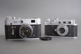 lot of 2x Russian rangefinder cameras: Zorki C + Fed-3