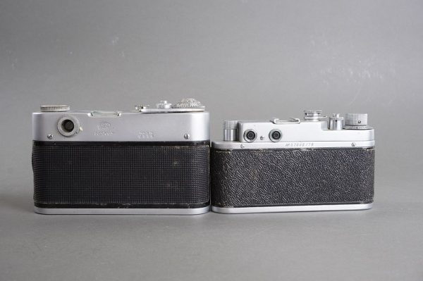 lot of 2x Russian rangefinder cameras: Zorki C + Fed-3
