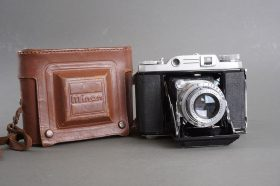 uncommon Minon Six III rangefinder camera with 75mm f/3.2 Luminor lens
