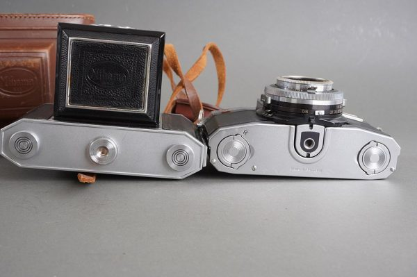 Zeiss Ikon Contaflex SLR + Mihama 6×6 folding cameras