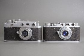 lot of 2x Russian rangefinder cameras: Zorki C + early Fed, both with LTM mount lenses