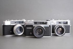 lot of 3x vintage rangefinder cameras: Minolta, Beauty, Yashica