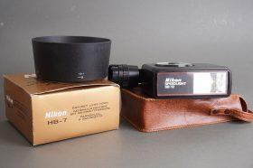 Nikon HB-7 lens hood for 2.8/80-200 lens + Speedlight SB-12 flash