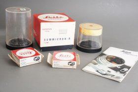 Leica R lens bulbs + Summicron-R 2/90 box + Leitz extras