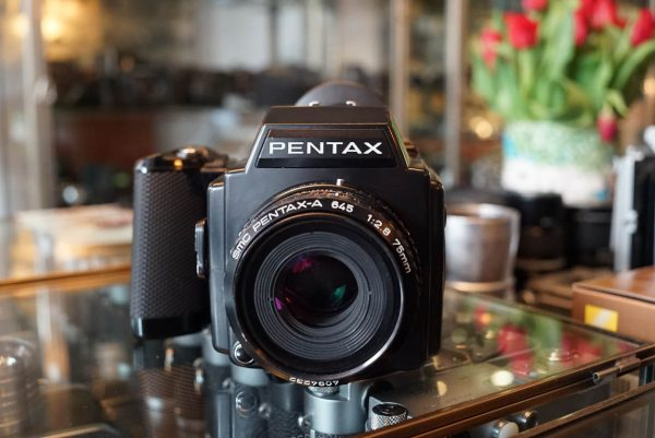 Pentax 645 kit + SMC Pentax-A 2.8 / 75mm lens
