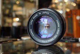 Canon lens FD 1:1.4 / 50mm