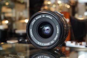 Canon lens FD 1:2.8 / 28mm lens
