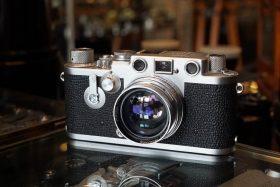Leica IIIf + Leitz Summitar 1:2 / 50 lens