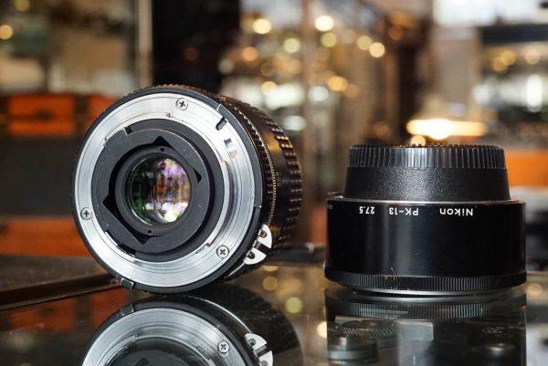 Nikon Micro-Nikkor 55mm f/2.8 AIS + PK-13