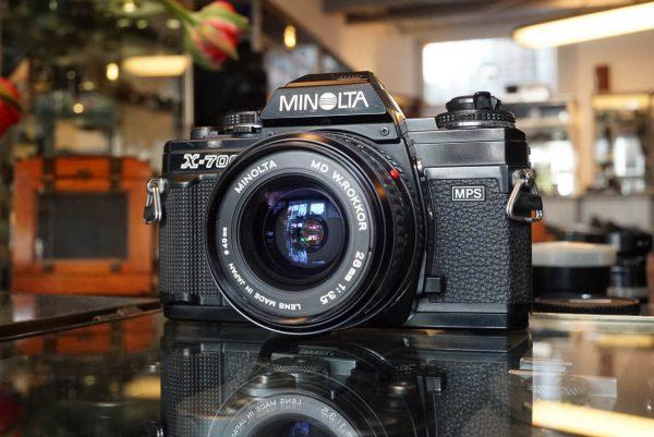 Minolta X-700 + MD W.Rokkor 28mm 1:3.5 lens