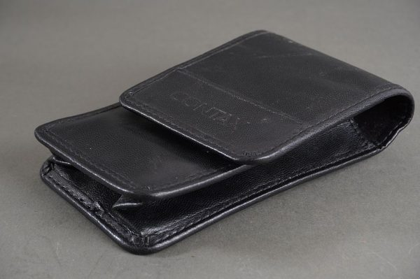 genuine Contax leather pouch for small compact camera