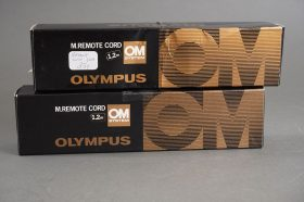 Olympus M Remote Cord 1.2m – lot of 2x, boxed