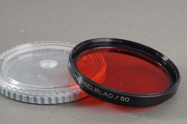 Hasselblad B50 R 6x red filter, with caps