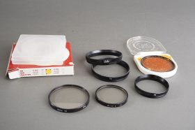 Leica Series VII UVa filter in 14161R retaining ring + B+W series 6 UV filter in 14160 retaining ring + extras