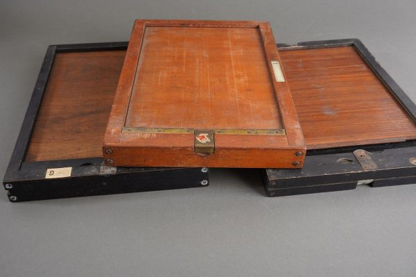 Lot of 3x vintage plate film holders, approx. 16x21cm