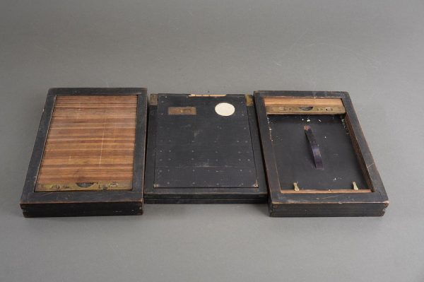 Lot of 3x vintage plate film holders, approx. 11x17cm
