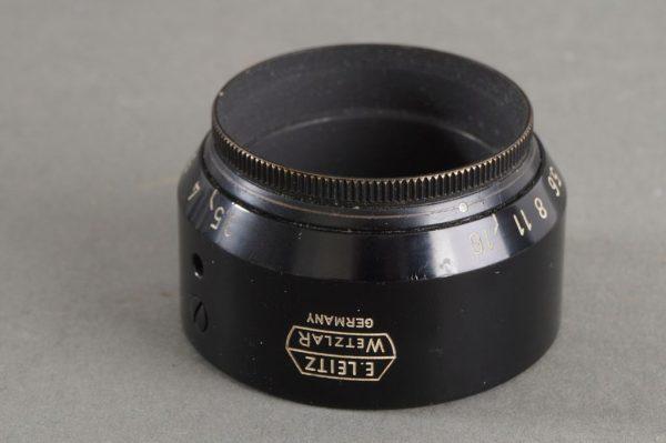 Leica Leitz VALOO lens hood for Elmar 5cm lens, with aperture control