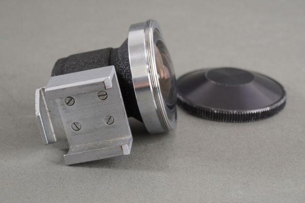 Nikon F Nikkor finder, pressumably for 8mm fisheye-Nikkor