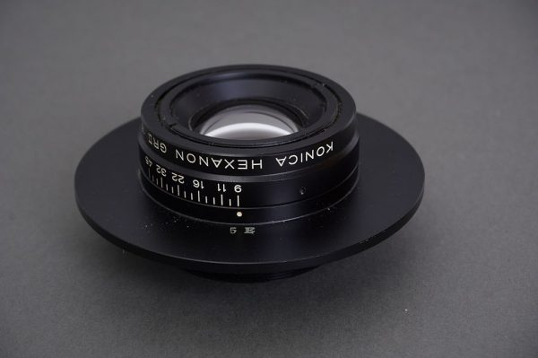 Konica Hexanon GRII 150mm f/9 lens