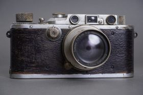 Leica IIIa camera with Summar 5cm 1:2 lens