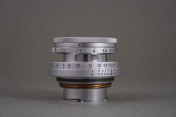 Leica Leitz Wetzlar 50mm 1:2.8 Elmar M mount, collapsible lens