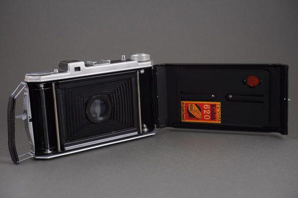 Kodak folding camera with Angenieux 100mm f/4.5 lens