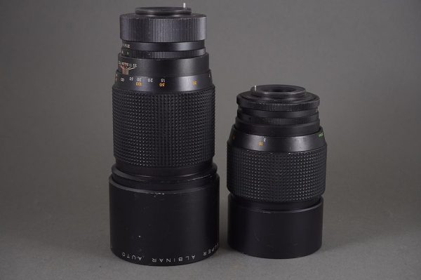 Super Albinar 300mm 1:4 + 200mm 1:3.3 lenses in M42 mount