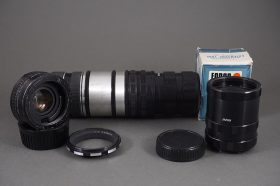Set of M42 macro extension tubes + Vivitar 2x MC Tele Converter