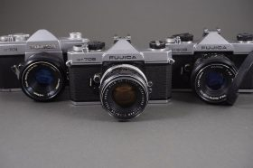 lot of 3x Fujica cameras: ST705, ST701, ST605, all with lenses