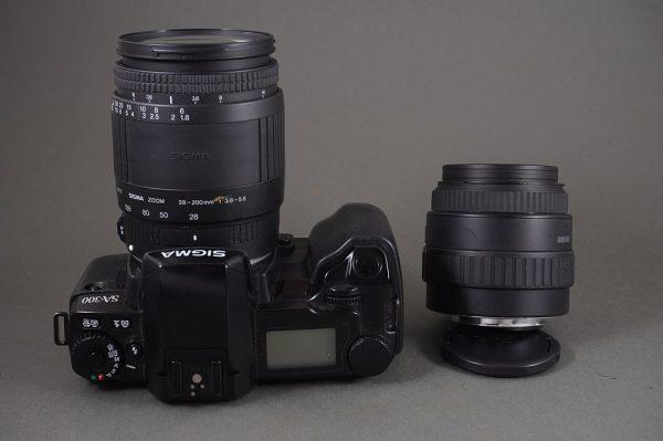 Sigma SA-300 with 28-200 and 35-80 AF lenses