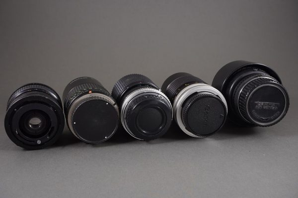 lot of 5x various lenses, untested