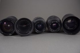 lot of 5x various autofocus lenses, untested