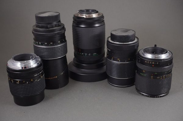 lot of 5x various vintage lenses, untested