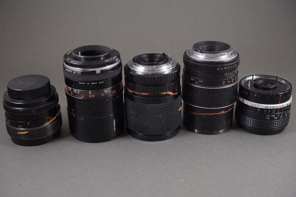 lot of 5x vintage various lenses, untested