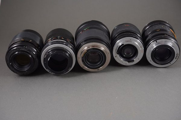 yet another lot of 5x vintage various lenses, untested