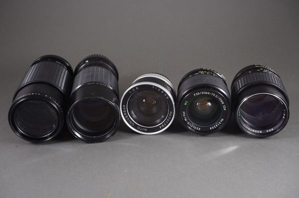big lot of various lenses and teleconverters / aux lenses, as per pictures