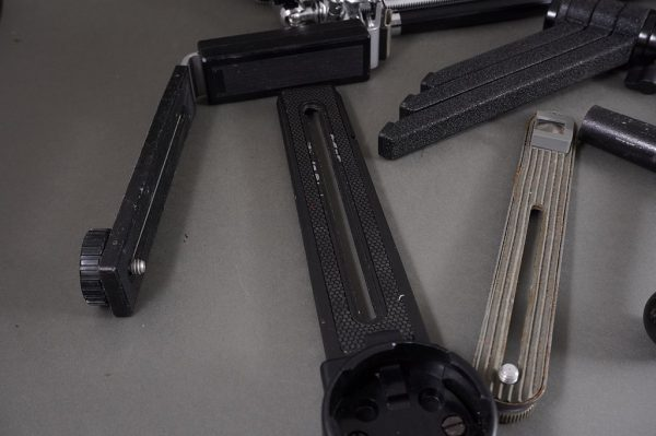 vintage tripod with lot of grips and handles, as per pictutres