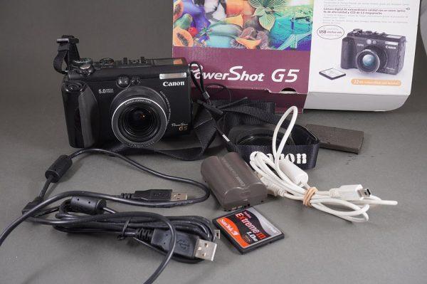Canon Powershot G5 camera, boxed