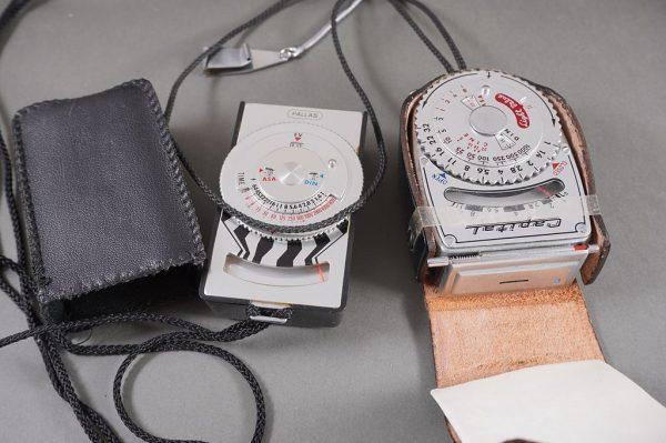 lot of 5x vintage lightmeters – untested