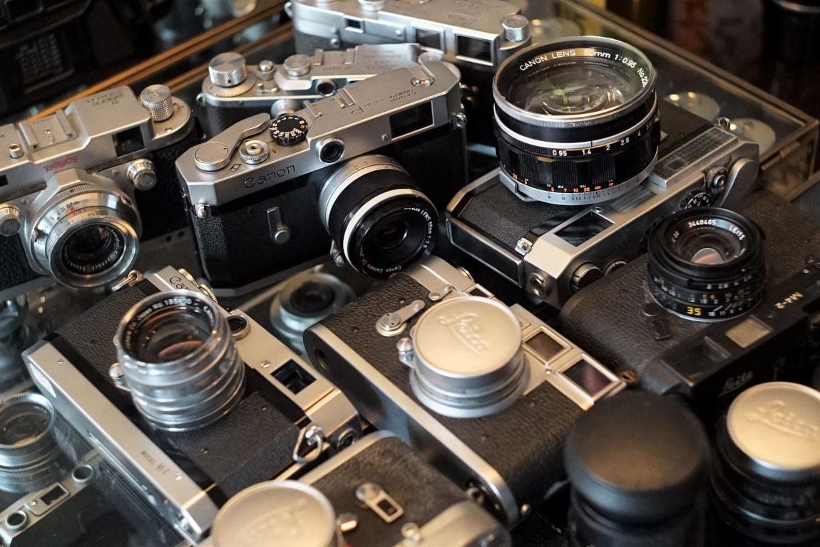 leica and canon collection