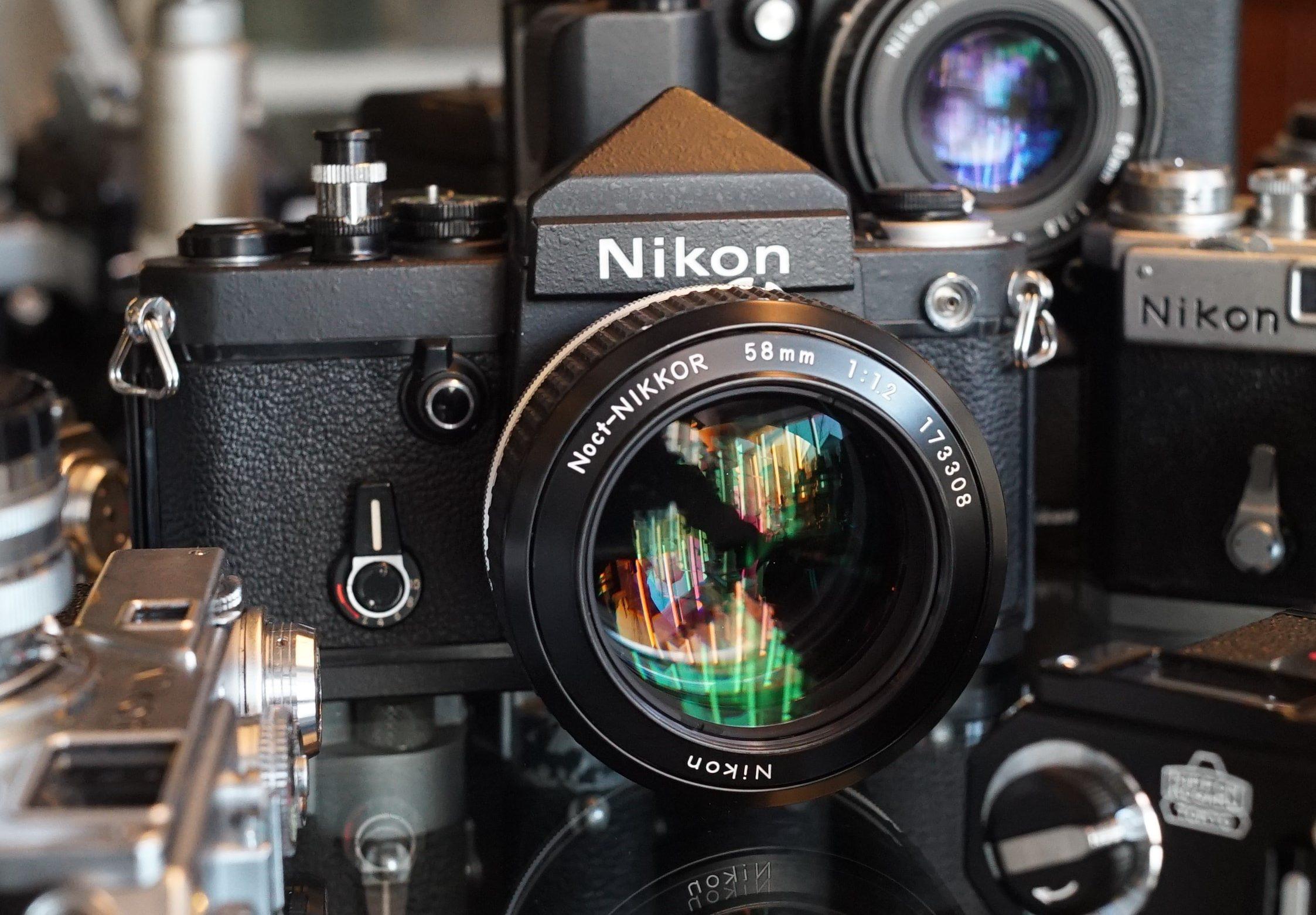 Nikon F2 Titan body + Noct-Nikkor 1.2 / 58mm lens