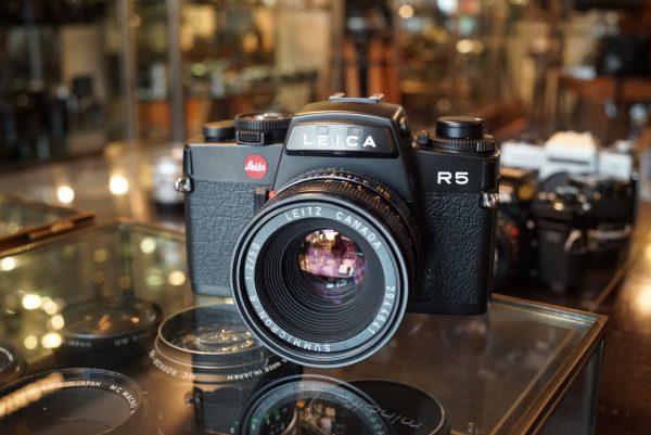 Leica R5 + Summicron-R 50mm f/2 R-Only, Boxed body