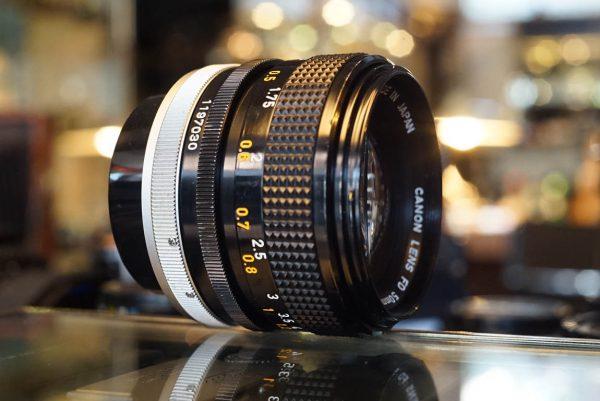 Canon lens FD 50mm 1:1.4 SSC lens