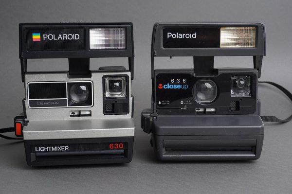 Lot of 2x Polaroid film cameras: 630 Lightmixer and 636 close-up