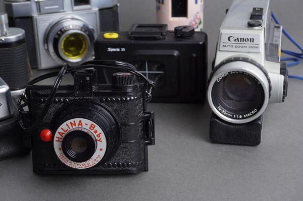 Lot of 6x vintage film cameras + Canon movie camera