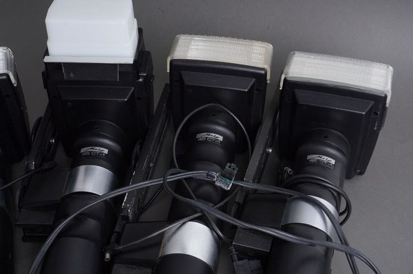4x defective Metz 45CT-1 flashes with rails and accessories