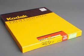 sealed box of 8×10 inches Kodak PRO 100 / PRN 4329 film, 10 sheets, expired 09/1997