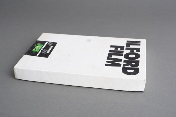 sealed box of Ilford HP5 Plus 5×7 inches film, 25 sheets, expired 09/1998