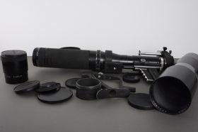 Novoflex Noflexar 40cm 1:5.6 + 600mm 1:8 + Kenlock 800mm 1:8 + grips and extras