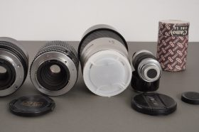 Lot of 6x various lenses, Canon, Minolta, Rollei and others – untested